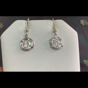 Jewelry - Atocha silver coin earrings